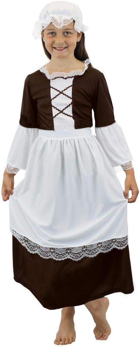 LADIES TUDOR MAID COSTUME POOR VICTORIAN PEASANT BOOK WEEK FANCY DRESS COSTUME