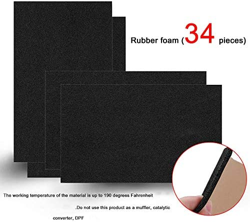 SHINEHOME 150 mil 36 sqft Car Sound Deadening Mat, Heat Insulation Audio Noise Insulation and dampening, Self-Adhesive Rubber Waterproof Soundproofing Material (PE Foam Sound Deadener)