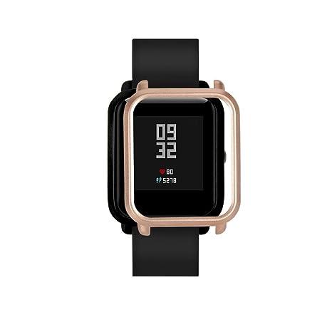 TAOtTAO Colorido PC Carcasa Proteger Carcasa para Xiaomi huami amazfit bip jóvenes Reloj, Color Dorado