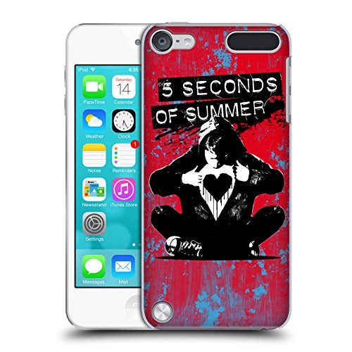 Official 5 Seconds Of Summer Jetblack Red Colour Chaos Hard Back Case for iPod Touch 5th Gen / 6th Gen (Ipod Touch 5 Colors compare prices)