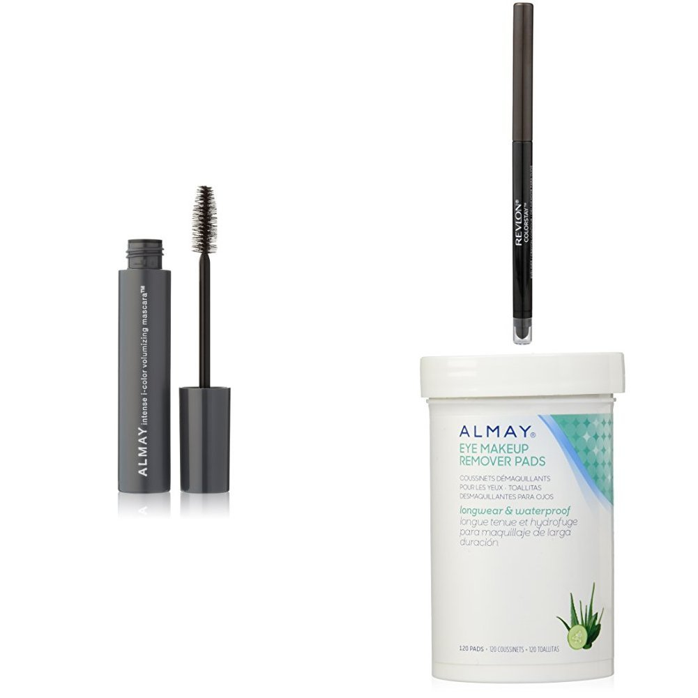 Amazon.com : Revlon & Almay Perfect Eye Collection - Almay Intense i-Color Volumizing Mascara, Revlon ColorStay Eyeliner & Almay Longwear Eye Makeup Remover ...