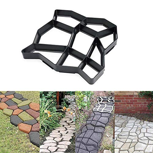 Womdee DIY Pavement Mold, Reusable Walk Maker Cement Concrete Molds, Stepping Stone Mold Pavers for Patio & Garden & Yard & Lawn, 35x35x3.6cm - O ()