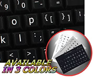 Keyboard Stickers Non Transparent Black Background for pc Computer Laptop Keyboards Lower case English Us Large Letter