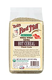 Bob\'s Red Mill Organic Whole Wheat Farina, 24 Ounce (Pack of 4)