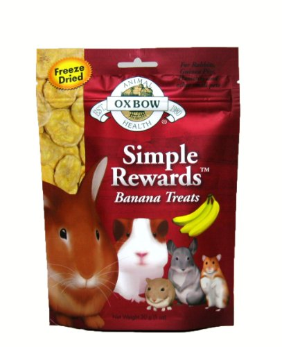 Banana Treats (Oxbow Animal Health Simple Rewards Banana Treat for Pets,)