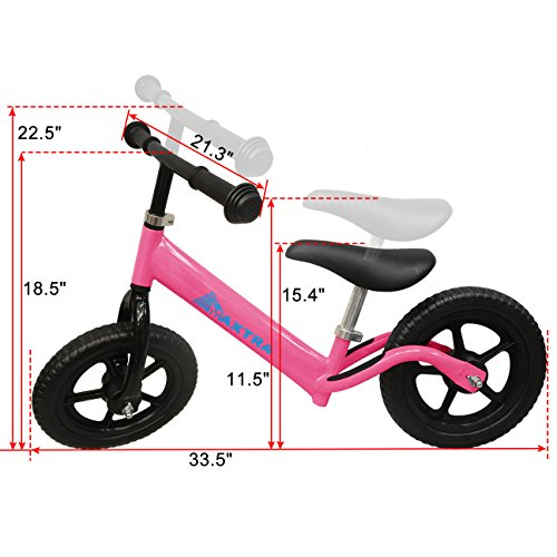 Maxtra Lightweight Balance Bike Safety Designed No Pedal Training Bicycle with Adjustable Seat and Handlebar For Ages 2 to 5 Years by Maxtra (Image #1)