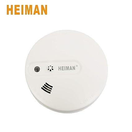 Heiman - Alarmas de humo y calor ópticas combinadas, sensor de calor de alarma de