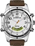 Timex Men's T49828 Expedition Rugged Chronograph Analog-Digital Brown Leather Strap Watch, Watch Central