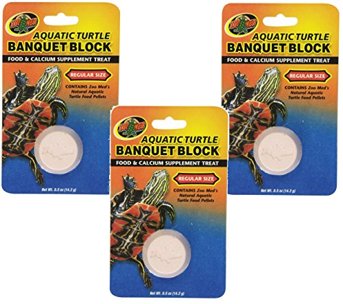 (3 Pack) Zoo Med Aquatic Turtle Banquet Blocks