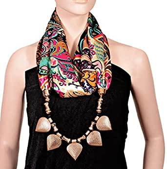 Helloo Ladies Women's Damask Fashion Scarves