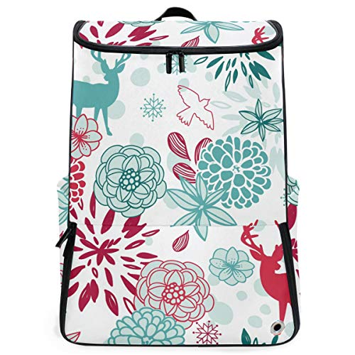 Husky Basketball Mens - S Husky Christmas Series Elements Holiday Theme Sports Travel Backpack with Shoe Compartment Reindeer Flower Fireworks For Kids Multipurpose Hiking Daypacks Outdoor 3-Day Unisex 2040039