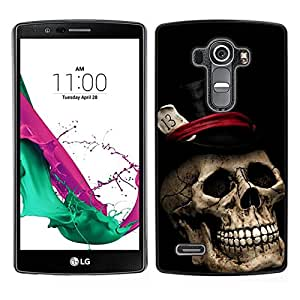 All Phone Most Case / Lindo Foto Caso Duro Carcasa Estuche de protectora / Hard Case for LG G4 // Sombrero de Copa Poker Tarjetas de Halloween Música metal