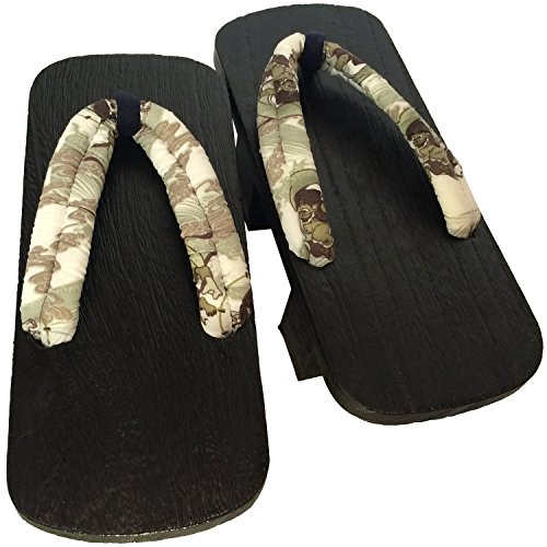 Sandals 27cm Wood Futatuba Gentlemens Kiri Yukata Kimono Geta Browned and GG031 Raijin Japanese for qYnpqSBA
