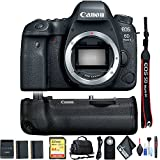 Canon EOS 6D Mark II DSLR Camera (Body Only) w/Sandisk Memory Card, Carrying Case, Extra Battery Combo International Model