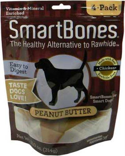 SmartBones Peanut Butter Dog Chew, Medium, 4-Pack, My Pet Supplies