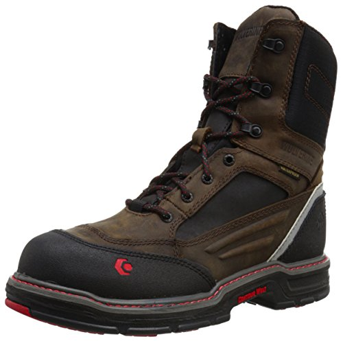 (Wolverine Men's Overman Nano Toe INS 8 WPF Work Boot, Brown/Black, 9 M US)