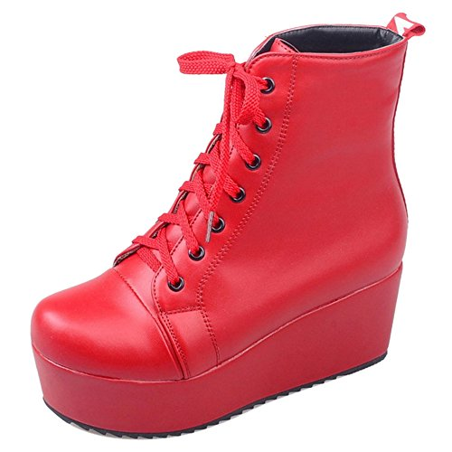 COOLCEPT Botines de Tacon Cuna para Mujer Red