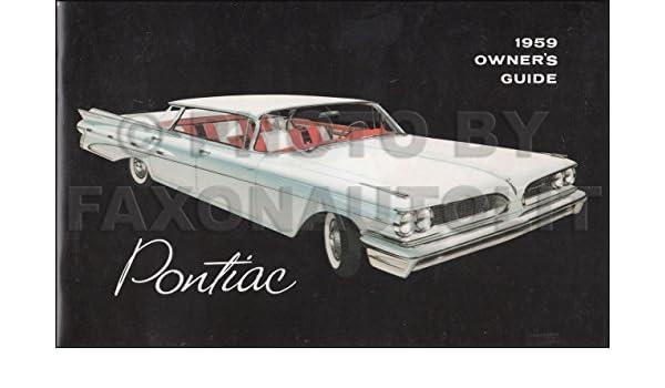 1959 PONTIAC  OWNER/'S MANUAL