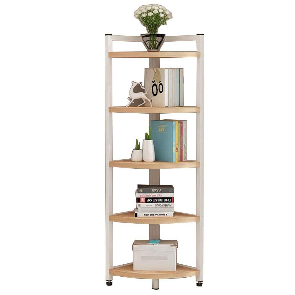 White 19.6819.6859.05in JCAFA Shelves Bookshelves Multifunctional Corner Shelf Rack Multi-Layer Storage Metal Bookshelves Organizer Shelves for CDs, Records (color   White, Size   11.81  11.81  47.24in)