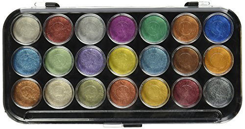 Yasutomo NPWC21 Pearlescent Watercolor Set, 21-Colors -