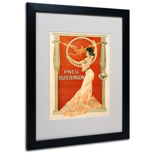 Apple Collection - Pneu Hutchinson Artwork by Vintage Apple Collection, Black Frame, 16 by 20-Inch