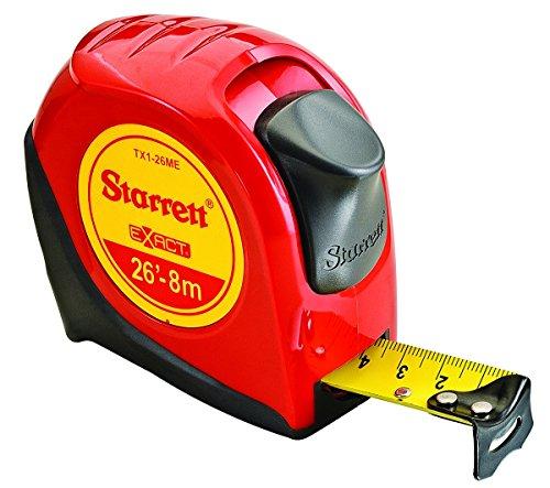 (Starrett KTX1-26ME-N-SP01 Exact English/Metric Tape Measure, 1