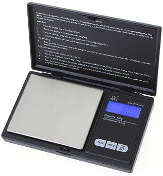 KKmoon Mini Digital Escala del Bolsillo Escala de la Joyería Oro Diamante Escala Escala de Gramo 100g * 0.01g LCD: Amazon.es: Electrónica