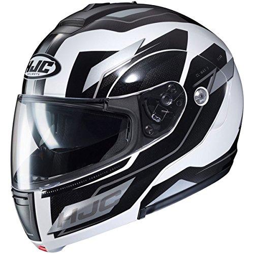 (HJC Flow Men's CL-MAX 3 Modular Street Motorcycle Helmet - MC-10 / Large )