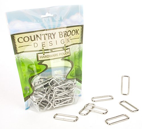 Country Brook Design 50 1 Inch Lite Welded Rectangle Rings ()