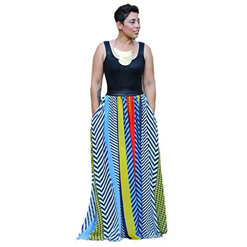 Usstore Women Bohemian Off The Shoulder Backless African Print Dresses (L) by Usstore (Image #1)
