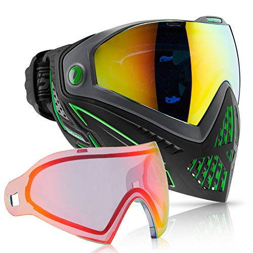 Dye i5 Paintball Goggle - Emerald with Bronze Fire Thermal Lens Combo by Dye