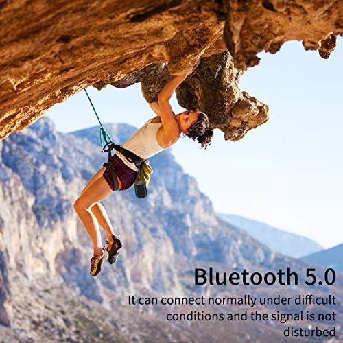 [Upgraded] Bluetooth Speakers,MusiBaby Bluetooth Speaker 5.0,Outdoor,Waterproof,Wireless Speaker,Dual Pairing,Loud Stereo Sound,Booming Bass,25h Playtime for Camping,Beach,Pool,Shower(Black) 51PBUya1sfL