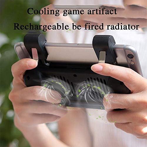 XHMCDZ Mobile Game Controller最新バージョン調整可能なトリガー、AndroidとiOSの携帯電話用冷却ファン付きゲームパッド