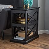 Belham Living Hampton Chair Side Table – Black