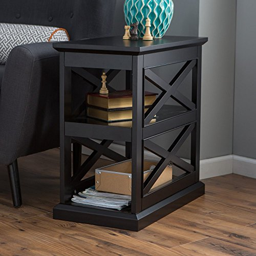 Belham Living Hampton Chair Side Table – Black