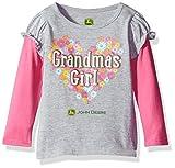 John Deere Baby Girls' Layered Look 2 for Tee, Grey, 24M