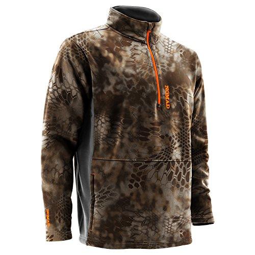 Nomad Southbounder Camo 1/4 Zip Fleece, Kryptek Banshee, XL