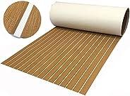 "EVA Foam Boat Flooring Sheet Bevel Edge Marine Faux Teak Decking Carpet for Yacht Floor,94.5""x35.4"""
