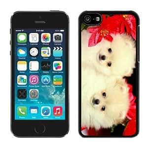 Custom Iphone 5C TPU Case Christmas Dog Black iPhone 5C Case 33