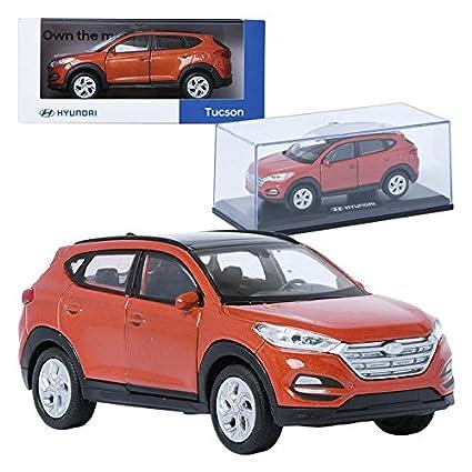Amazon Com Pino B D Hyundai Tucson Tl Orange 1 38 Display Mini Car