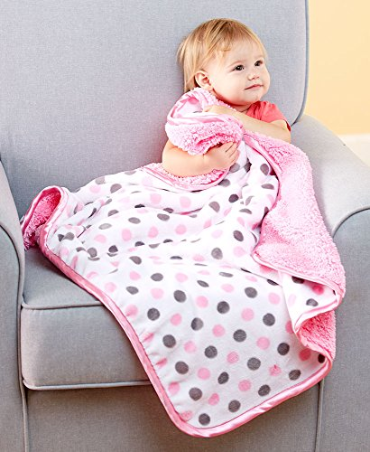 elegantly-designed-shepra-baby-blankets-pink-polka-dot