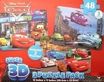Disney Cars 2 Super 3D 3 Pack Puzzle