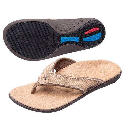 Spenco Men's PolySorb Yumi Canvas Sandals - Size 9, (Canvas Thongs)