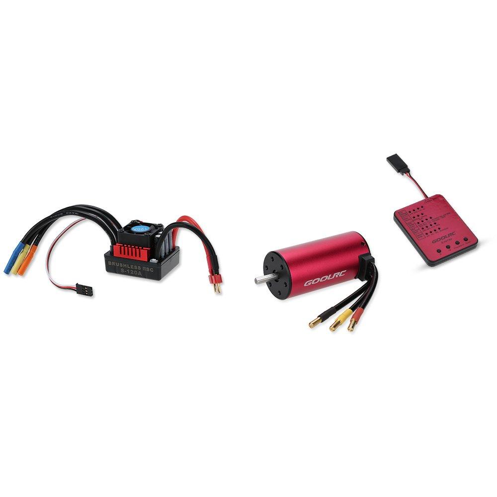 GoolRC S 3674 2650KV Sensorless Brushless Motor 120A Brushless Regler/ESC und Programm-Karte Combo Set für 1 8 RC Auto-LKW