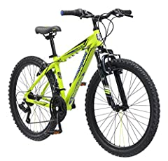 """You need a ride that's agile, yet resilient. A bike that's strong and reliable on gnarly trails, but lightweight at the same time. Introducing the 24"""" boy's Mech by Mongoose, an all-terrain mountain bike that is ready to rip up the trails wit..."""