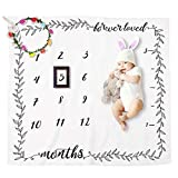 CalMyotis Baby Monthly Milestone Blanket, Personalized Photography Blanket, Feel Comfortable - Not Easy Wrinkle - Catch Baby's Growth Memory, Newborn Baby Shower Gifts: more info