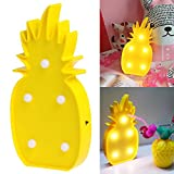 Heartyhug Tropical Yellow Pineapple Cute LED Night Light Table Desk Lamp Bedroon Living room Home Decor Gift