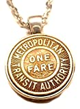 Vintage 50's Metropolitan Transportation Auth Token Necklace