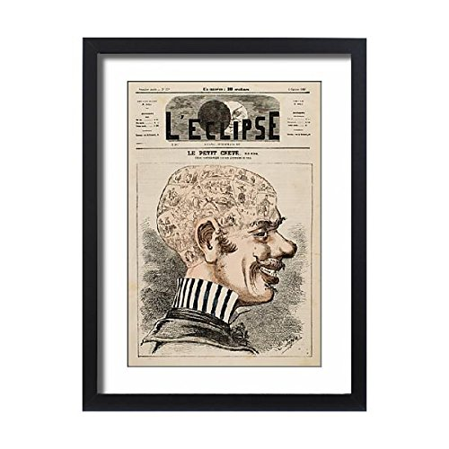 Framed 24X18 Print Of Phrenology/man Of Town (576789) by Prints Prints Prints