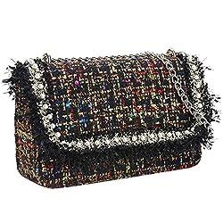 Paco Tora Crossbody Bags Tweed Shoulder Bag Chain Handbags